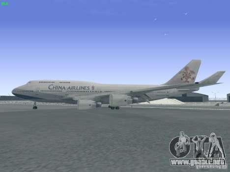 Boeing 747-400 China Airlines para GTA San Andreas left