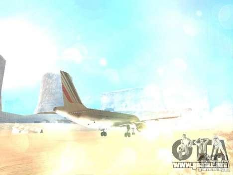 Airbus A320 Air France para vista lateral GTA San Andreas