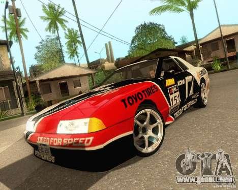 Need for Speed Elegy para GTA San Andreas vista hacia atrás