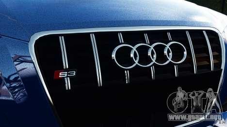 Audi S3 2010 v1.0 para GTA 4 Vista posterior izquierda