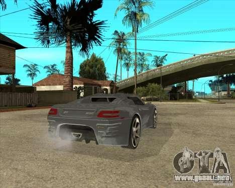 Teoría de Barss gran Tourismo para GTA San Andreas vista posterior izquierda