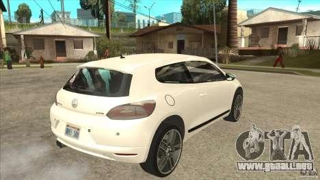 Volkswagen Scirocco 2009 para la visión correcta GTA San Andreas