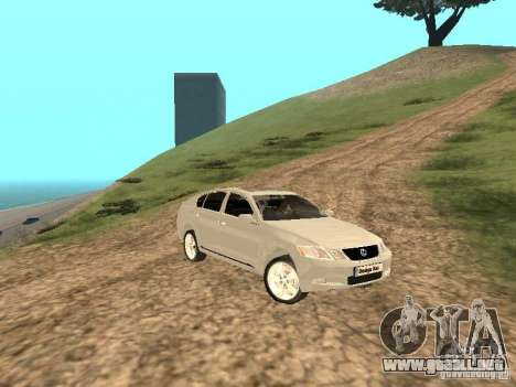 Lexus GS-350 para vista lateral GTA San Andreas