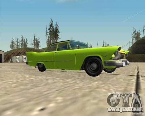 Plymouth Savoy 1957 para vista lateral GTA San Andreas