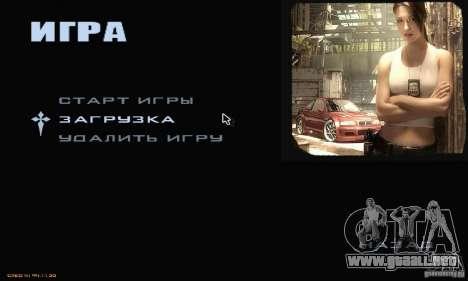 El menú más buscado para GTA San Andreas segunda pantalla