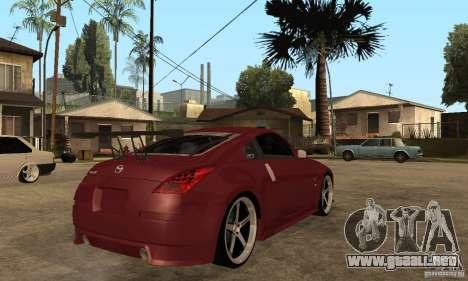 Nissan 350Z JC2 para la visión correcta GTA San Andreas