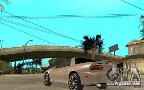 Chevrolet Camaro SS 2002 para GTA San Andreas vista posterior izquierda