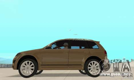 Volkswagen Touareg 2008 para GTA San Andreas vista posterior izquierda