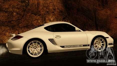 Porsche Cayman R 987 2011 V1.0 para vista inferior GTA San Andreas