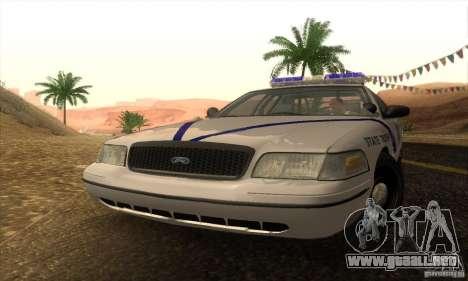 Ford Crown Victoria Arkansas Police para GTA San Andreas vista posterior izquierda