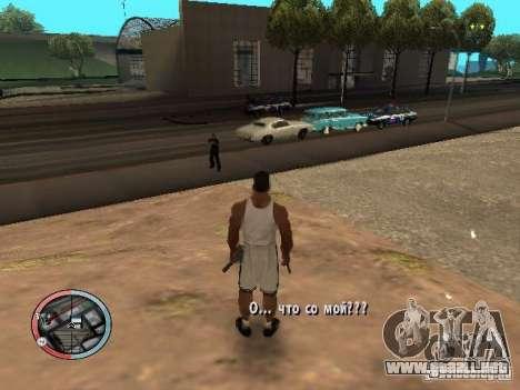 DRUNK MOD para GTA San Andreas segunda pantalla
