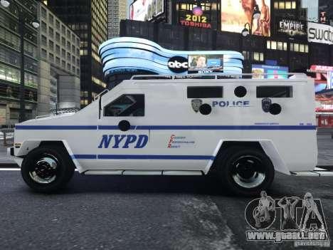 Lenco Bearcat NYPD ESU V.2 para GTA 4 visión correcta