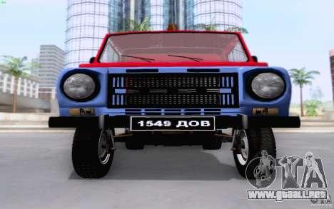 LuAZ 13021 grúa para visión interna GTA San Andreas