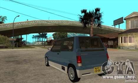 Suzuki Alto Works para GTA San Andreas vista posterior izquierda