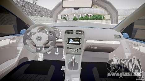 Volkswagen Polo 2011 para GTA 4 vista hacia atrás