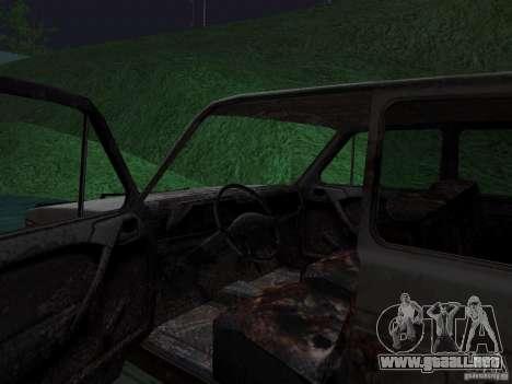 Rusty VAZ NIVA 1982 para GTA San Andreas vista posterior izquierda