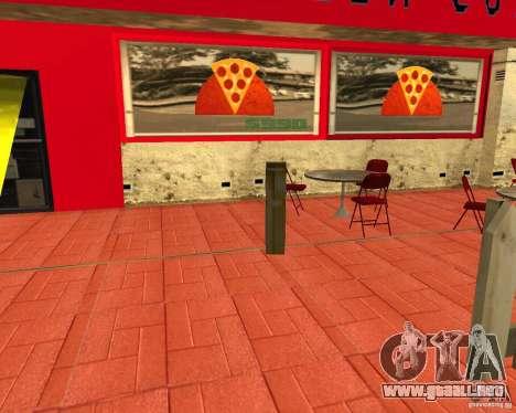 Comprar pizza para GTA San Andreas tercera pantalla