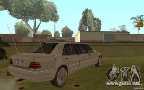 Mercedes-Benz S600 W140 Pullmann para GTA San Andreas