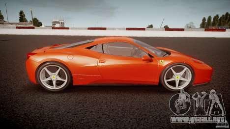 Ferrari 458 Italia 2010 para GTA 4 left