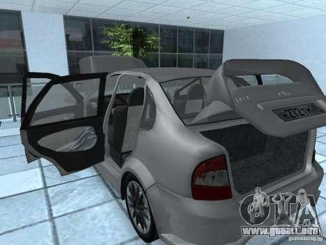 Kalina 1118 VAZ para GTA San Andreas vista hacia atrás