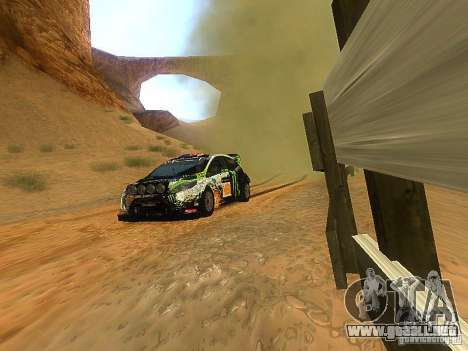 Ford Fiesta RS WRC 2012 para GTA San Andreas vista hacia atrás