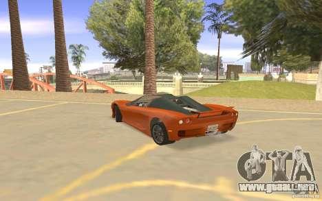 Veloche coche para GTA San Andreas vista hacia atrás