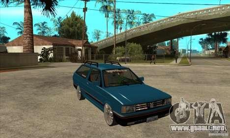 VW Parati GLS 1989 JHAcker edition para GTA San Andreas vista hacia atrás