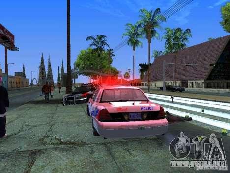 Ford Crown Victoria Police Patrol para visión interna GTA San Andreas