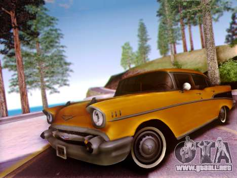 Chevrolet Bel Air 4-Door Sedan 1957 para visión interna GTA San Andreas