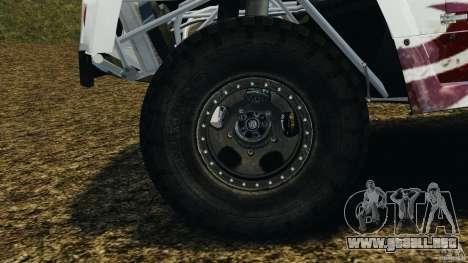 Hummer H3 raid t1 para GTA 4 vista lateral
