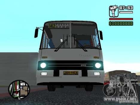 Ikarus 266 ciudad para GTA San Andreas left