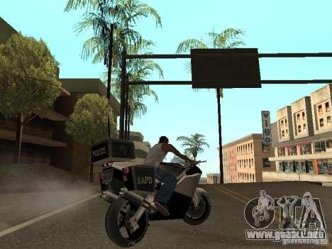 NRG-500 Police para GTA San Andreas vista hacia atrás