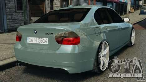 BMW 330i E92 para GTA 4 Vista posterior izquierda