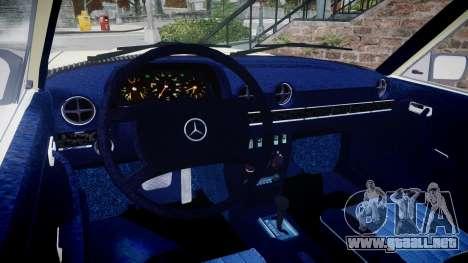 Mercedes-Benz 230E 1976 para GTA 4 visión correcta