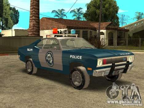 Plymout Duster 340 POLICE v2 para visión interna GTA San Andreas