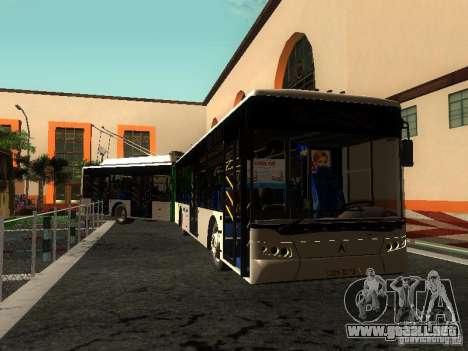 Trolebús LAZ E301 para vista inferior GTA San Andreas