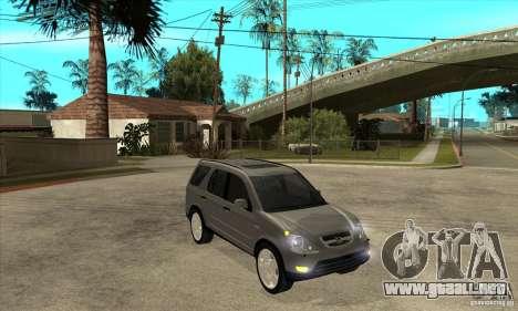 Honda CRV (MK2) para GTA San Andreas vista hacia atrás
