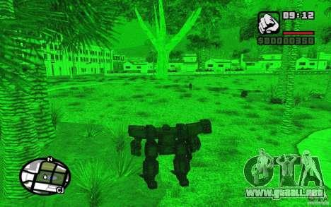 Exoesqueleto para GTA San Andreas quinta pantalla