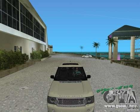 Rang Rover 2010 para GTA Vice City left