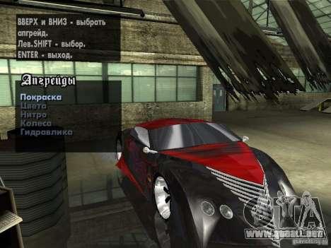 Thunderbold SlapJack para visión interna GTA San Andreas