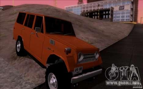 Toyota Land Cruiser FJ55 para GTA San Andreas vista hacia atrás