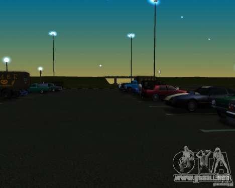 Autos en el estacionamiento del Anašana para GTA San Andreas segunda pantalla
