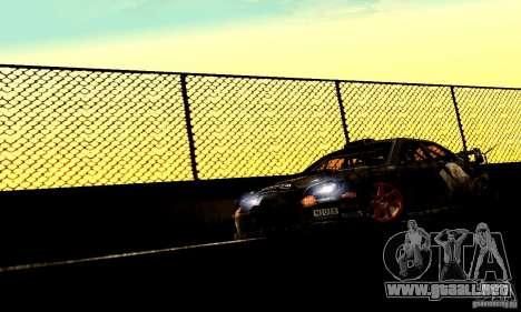 Subaru Impreza WRC 2007 para GTA San Andreas vista posterior izquierda
