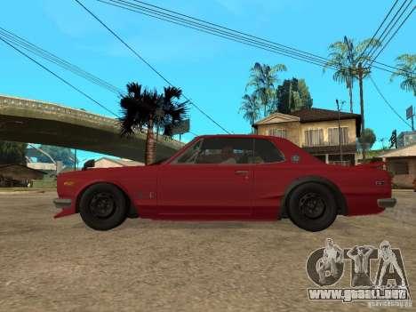 Nissan Skyline 2000 GT-R para GTA San Andreas left