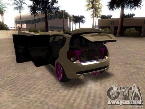 Chevrolet Aveo Tuning para GTA San Andreas vista posterior izquierda