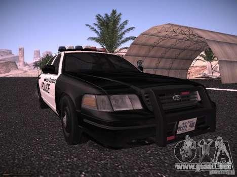Ford Crown Victoria Police 2003 para GTA San Andreas left