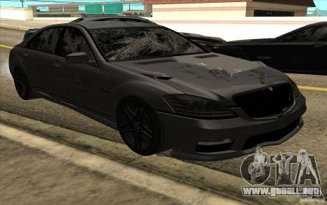 Mercedes-Benz S65 AMG para vista lateral GTA San Andreas