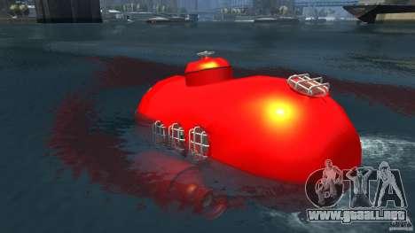Submarine para GTA 4 Vista posterior izquierda
