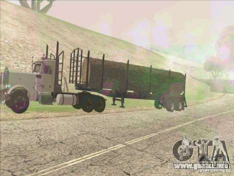 Trailer, Peterbilt 379 para GTA San Andreas left