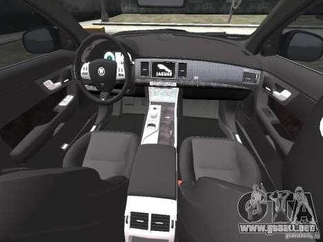 Jaguar XFR para GTA 4 interior